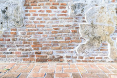 Aged street wall and floor background, texture Royalty Free Stock Images
