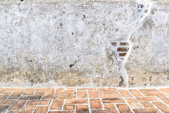 Aged street wall and floor background, texture Stock Image