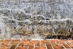 Aged street wall and floor background, texture Royalty Free Stock Photos