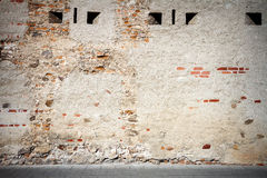 Aged street wall Royalty Free Stock Photo