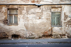 Aged street wall Stock Photography