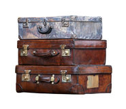 Aged suitcases Royalty Free Stock Images