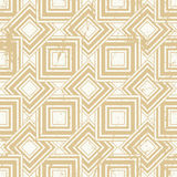 Aged textured geometric seamless pattern, vintage vector repeat Royalty Free Stock Photo