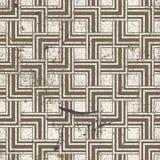 Aged textured geometric seamless pattern, vintage Royalty Free Stock Photo