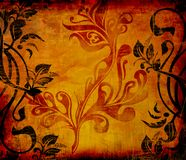 Aged textured grunge poster royalty free illustration