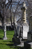 Aged tombstones Stock Photos