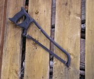 Aged tools2 -saw Stock Image