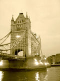 Aged Tower Bridge Royalty Free Stock Photos