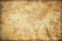 Aged treasure map background vector illustration
