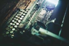 Aged Typewriting Machine Stock Photography