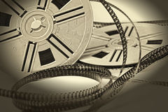 Aged vintage 8mm film movie Royalty Free Stock Photo
