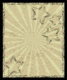 Aged vintage background. With stars and rays Royalty Free Stock Photography