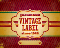 Aged vintage label Royalty Free Stock Images