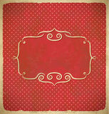 Aged vintage polka dot frame Stock Photography