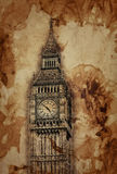 Aged vintage sepia toned Big Ben, London Royalty Free Stock Photography