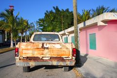 Aged vintage weathered truck in  mexico Stock Image