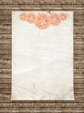 Aged vintage wedding (holiday) background. Royalty Free Stock Images