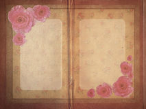 Aged vintage wedding (holiday) invitation card. Royalty Free Stock Photo