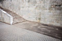 Aged wall background. Aged wall with stairs detail Royalty Free Stock Photo