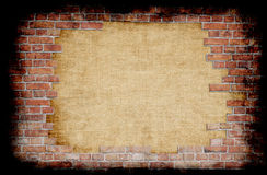 Aged wall with grunge border Royalty Free Stock Photo