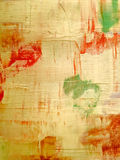Aged wall with multicolor paint Stock Image