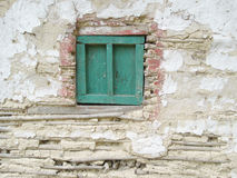 Aged wall with window Royalty Free Stock Photo