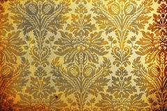 Aged wallpaper. Swatch of old aged wallpaper stock image