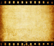 Aged wallpaper with film strip border. Close up Royalty Free Stock Image