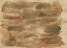 Aged watercolor paper with coffee and tea effect vector illustration