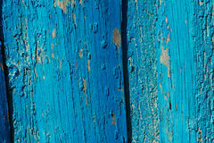 Aged weathered blue door wood texture Mediterranean background Stock Photo