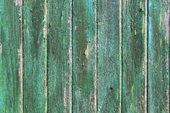 Aged weathered green wooden paint door textures Stock Photos