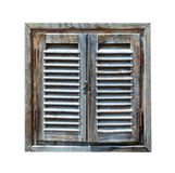 Aged weathered wooden window Stock Photo