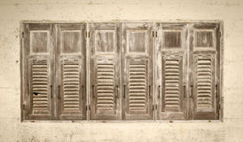 Aged weathered wooden window Royalty Free Stock Photo