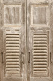 Aged weathered wooden window. Aged weathered vintage wooden window royalty free stock photo
