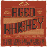 Aged Whiskey Vintage Label Poster Royalty Free Stock Images