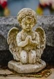 A grave decoration or grave statue stock image