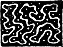 Aged White Black Abstract Maze Royalty Free Stock Image