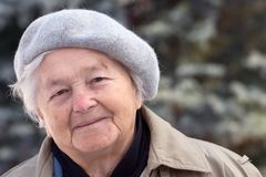 Aged woman stock image