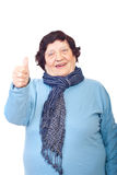 Aged woman giving thumbs Stock Photography