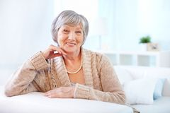 Aged woman Royalty Free Stock Photography