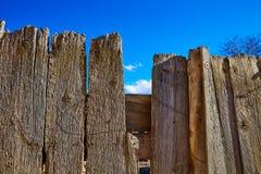 Aged wood fence in Sierra de Albarracin Teruel Stock Photo