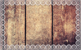 Aged wood frame lace Stock Images
