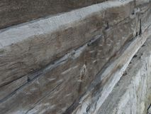 Aged wooden beam. Detail of aged wooden beam at a wooden church Stock Photography