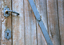 Aged wooden door Stock Photo