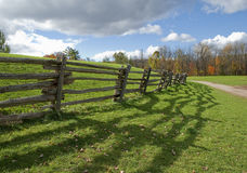 Aged wooden fence Royalty Free Stock Images