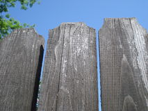 Aged wooden fence Stock Image