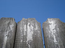 Aged wooden fence Stock Photo
