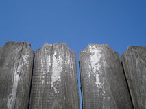 Aged wooden fence Royalty Free Stock Photo