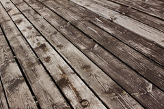 Aged wooden floor Royalty Free Stock Image