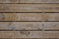 Aged wooden pallet. Aged and rustic wooden pallet for background or backdrop Stock Photo
